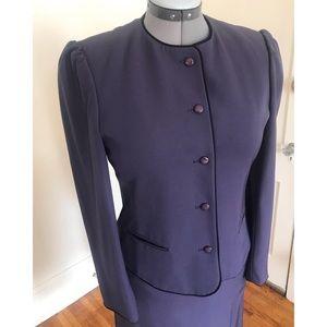 Vintage Macy's Plum Purple Skirt Suit
